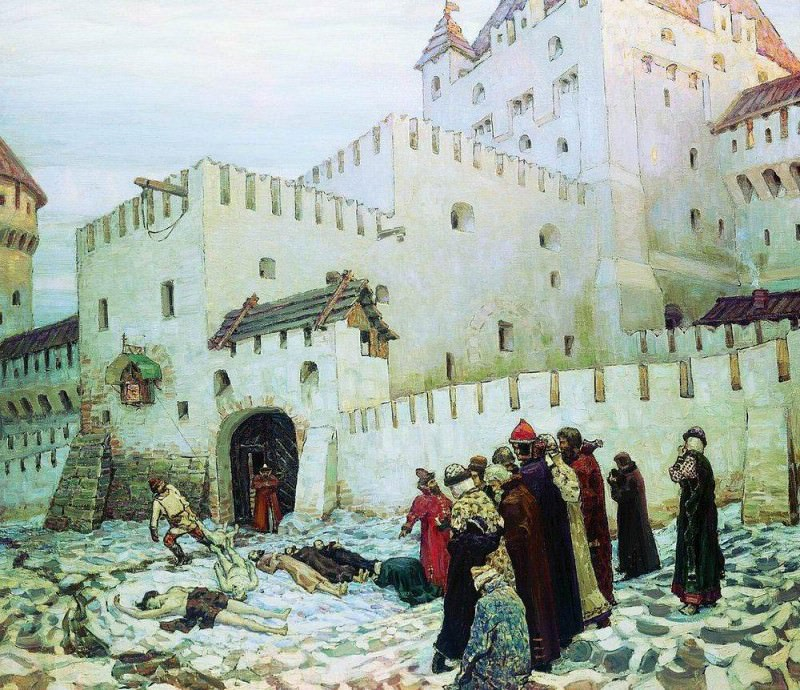 Moscow torture chamber. The end of the XVI century. 1912. Apollinaris M. Vasnetsov