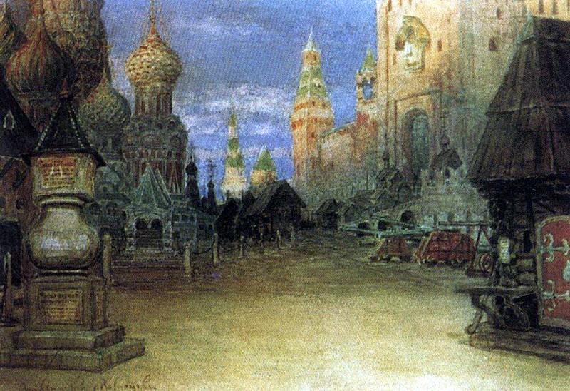 Red Square. 1897. Apollinaris M. Vasnetsov