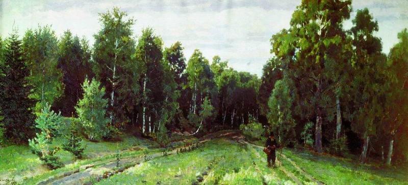 forest paths. Abramtzevo. 1885. Apollinaris M. Vasnetsov