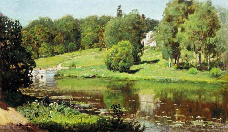 Ohtyrka. View estate. 1894. Apollinaris M. Vasnetsov