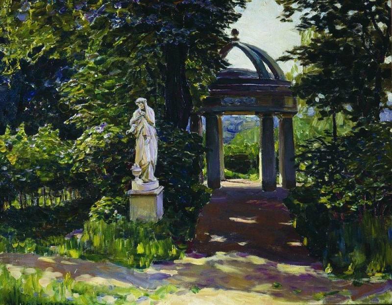 Rotunda Milovidov Naydenovskom in the park. Moscow. 1920. Apollinaris M. Vasnetsov