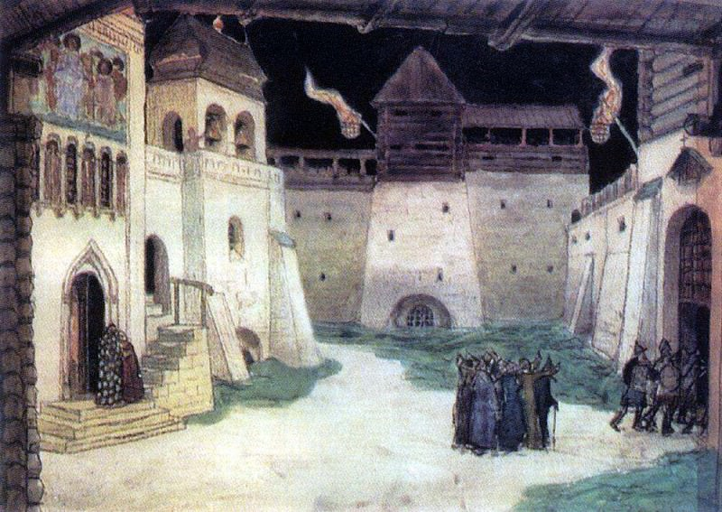 Площадь в осажденном Китеже. 1906. Аполлинарий Михайлович Васнецов