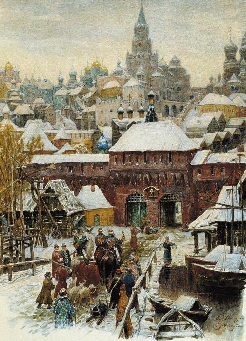 Moscow. Late XVII century. 1902. Apollinaris M. Vasnetsov