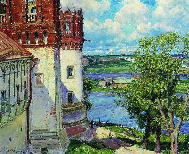 Новодевичий монастырь. Башни. 1926. Аполлинарий Михайлович Васнецов