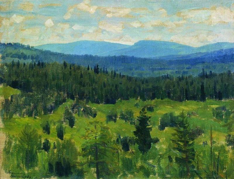 Ural landscape. 1890-1891. Apollinaris M. Vasnetsov
