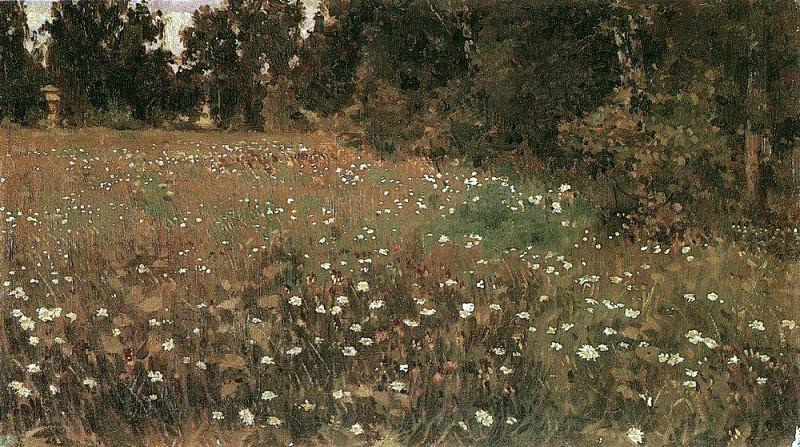 flowering meadow. 1882-1885. Apollinaris M. Vasnetsov