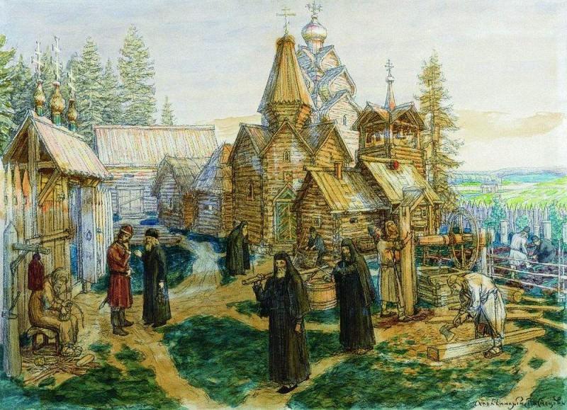 Троице-Сергиева лавра. 1908-1913. Аполлинарий Михайлович Васнецов