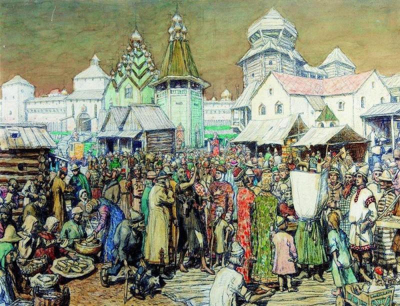 Urban area of XVII century. Apollinaris M. Vasnetsov