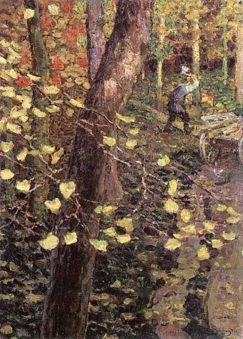 Осенняя ветка. 1910-е. Аполлинарий Михайлович Васнецов