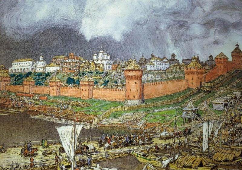 Moscow Kremlin under Ivan III. 1921. Apollinaris M. Vasnetsov