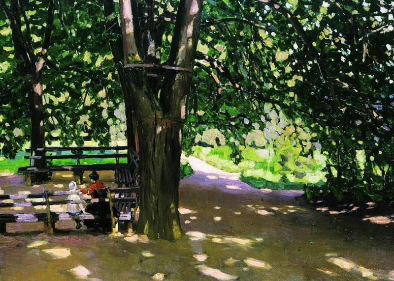In the shade of linden trees. Demyanovo. 1907. Apollinaris M. Vasnetsov