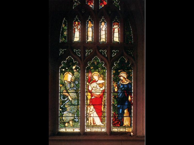 Christ Church Oxford Faith Hope and Charity. Sir Edward Burne-Jones