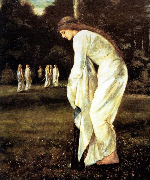 Saint George and The Dragon - The Princess Tied to the Tree. Sir Edward Burne-Jones