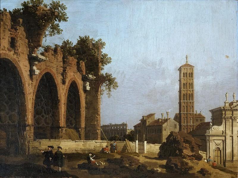 The Basilica of Maxentius. Canaletto (Giovanni Antonio Canal)
