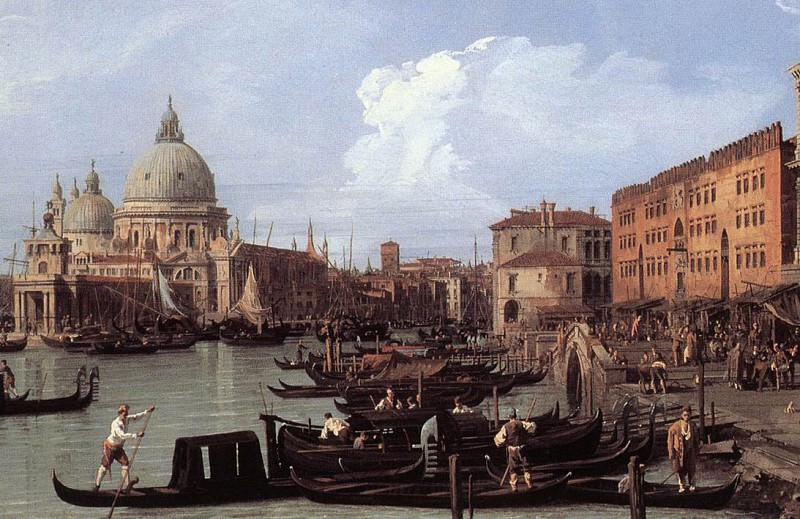 The Molo Looking West detail. Canaletto (Giovanni Antonio Canal)