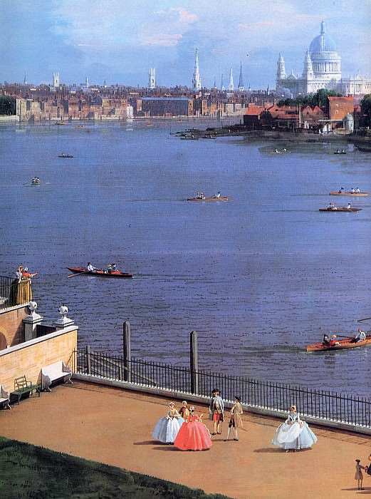 View on the Thames. Canaletto (Giovanni Antonio Canal)