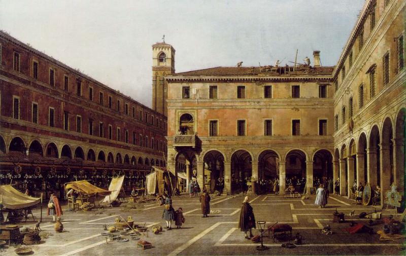 The Campo di Rialto, ca 1758-63, 119x186 cm, Gemal. Canaletto (Giovanni Antonio Canal)