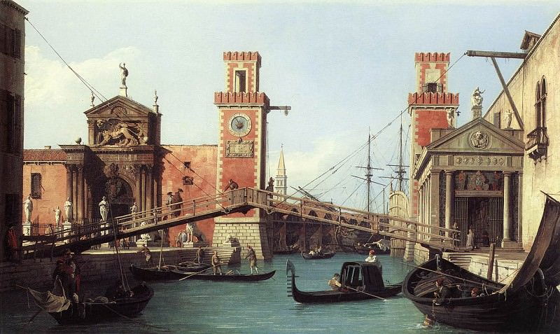 View Of the Entrance To The Arsenal. Canaletto (Giovanni Antonio Canal)