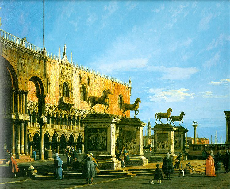 The Horses of San Marco in the Piazzett. Canaletto (Giovanni Antonio Canal)