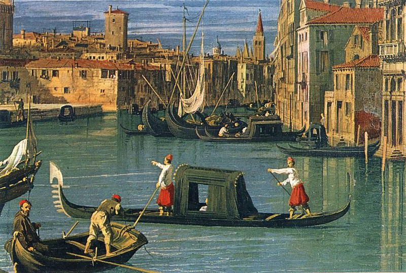 The Grand Canal and the Church of the Salute (detail. Canaletto (Giovanni Antonio Canal)