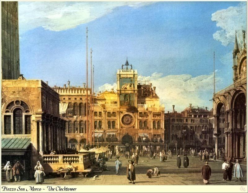 Piazza San Marco - Clocktower. Canaletto (Giovanni Antonio Canal)