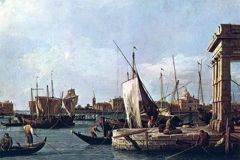 Canaletto La punta della Dogana (Custom Point). Canaletto (Giovanni Antonio Canal)