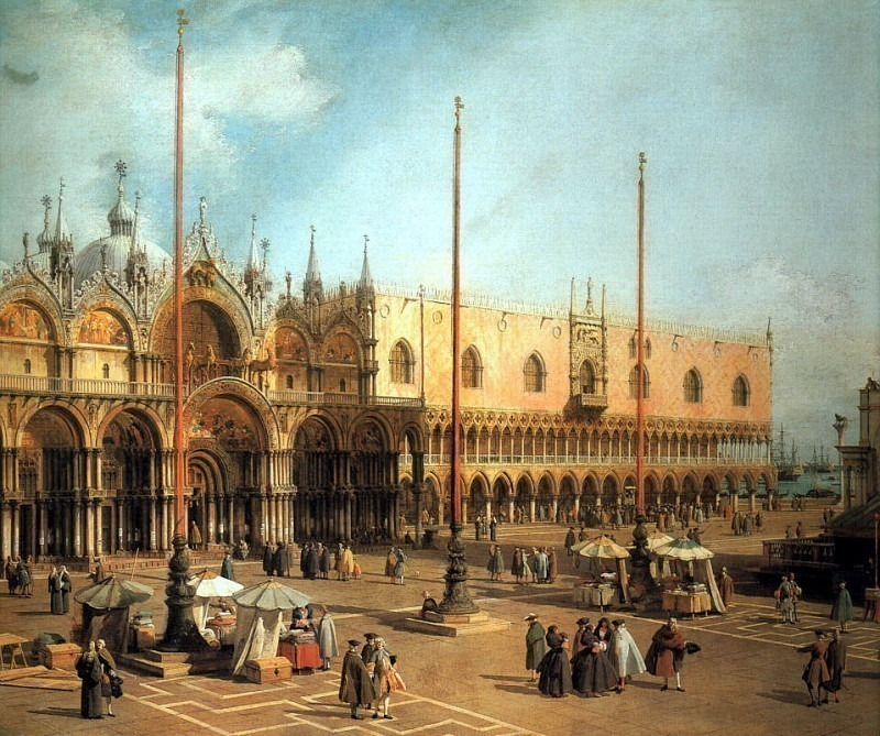 Piazza San Marco Looking Southeast. Canaletto (Giovanni Antonio Canal)