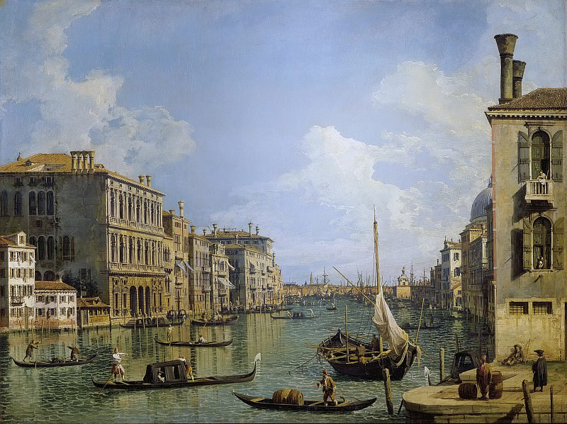 View of the Grand Canal. Canaletto (Giovanni Antonio Canal)