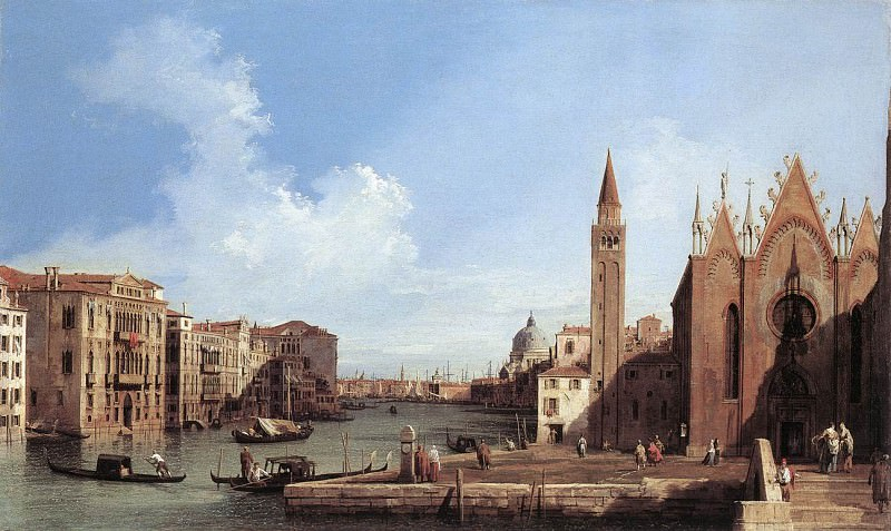 Grand Canal From Santa Maria Della Carita To The Bacino Di San Marco. Canaletto (Giovanni Antonio Canal)
