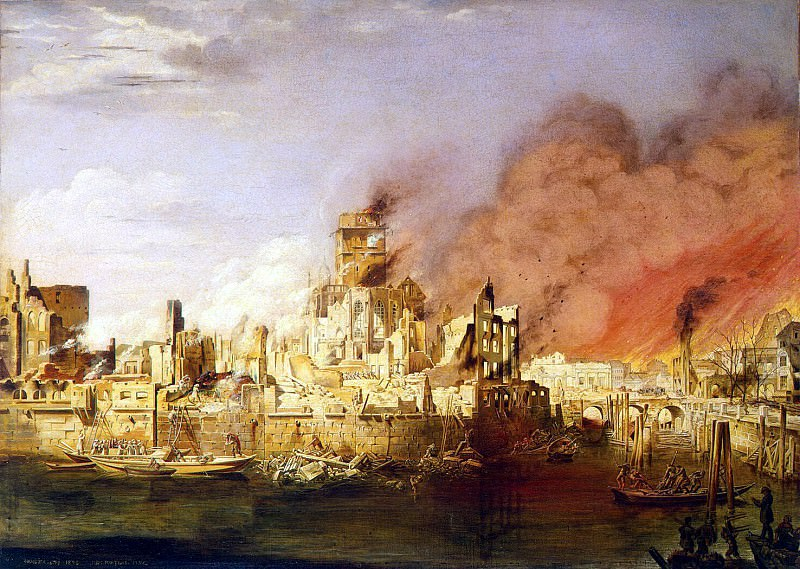 Мартенс, Дитлев - Пожар в Гамбурге 5 мая 1842 года. Эрмитаж ~ часть 8