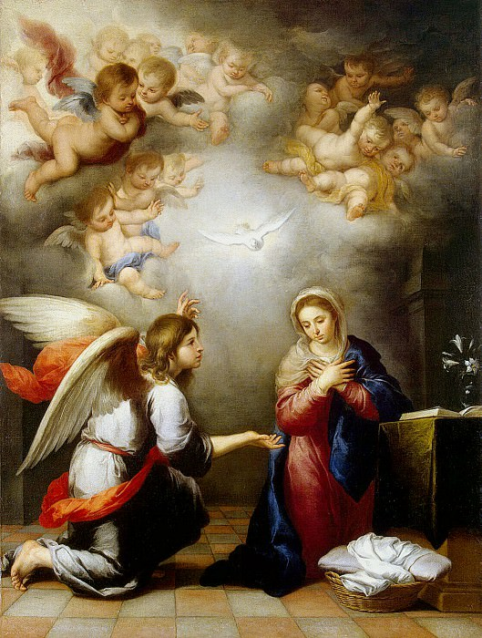 Murillo, Bartolome Esteban. Annunciation. Hermitage ~ part 08