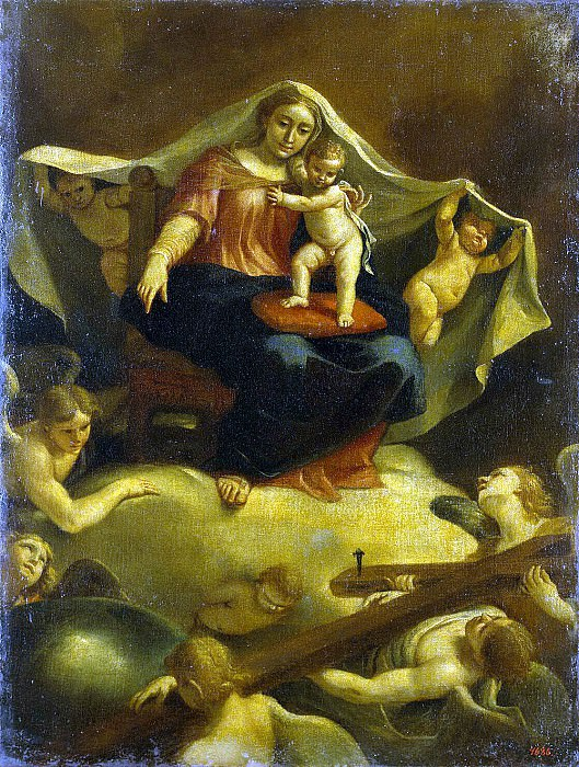 Martinez, Sebastian. Virgin and Child seated on a throne in the clouds. Hermitage ~ part 08