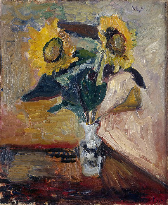 Matisse, Henry. Sunflowers in a Vase. Hermitage ~ part 08