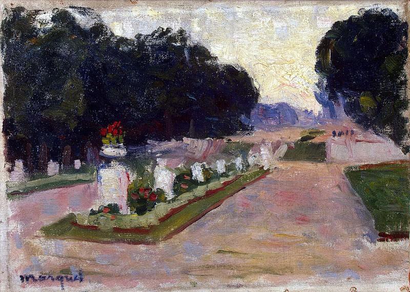 Marquet, Albert. Alley of the Luxembourg Gardens. Hermitage ~ part 08