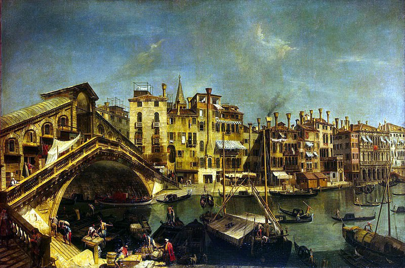 Marieschi Michele. Rialto Bridge in Venice. Hermitage ~ part 08