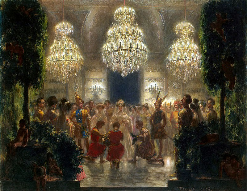Menzel, Adolf von. Rewarding participants holiday. 1829. Hermitage ~ part 08