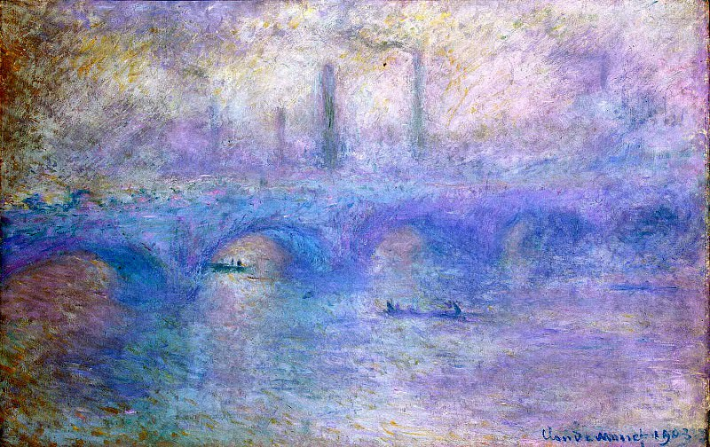 Monet, Claude. Waterloo Bridge. Fog effect. Hermitage ~ part 08
