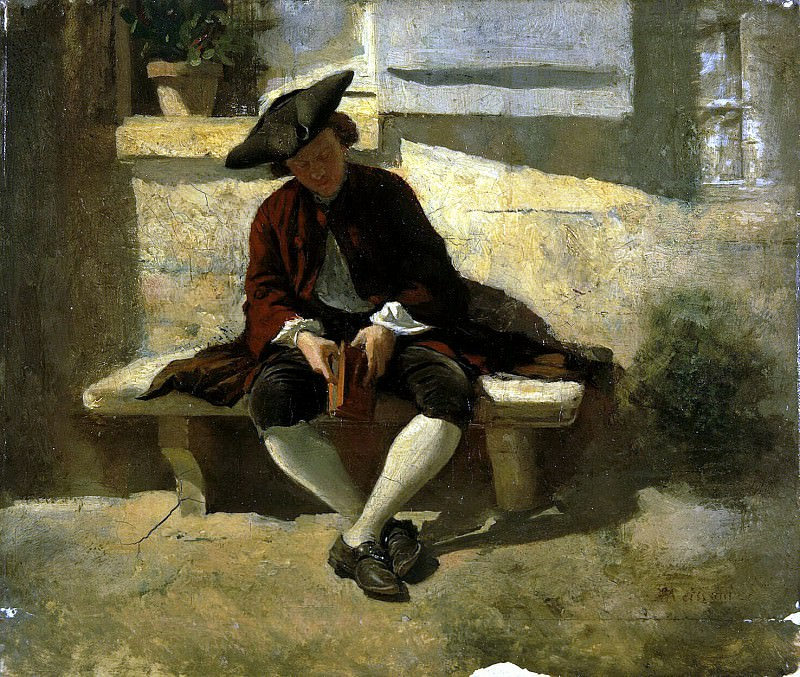 Meyssone, Jean Louis Ernest. Youth with a book. Hermitage ~ part 08