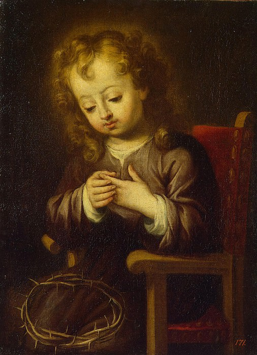 Murillo, Bartolome Esteban. Baby Jesus, Fly Thorns. Hermitage ~ part 08