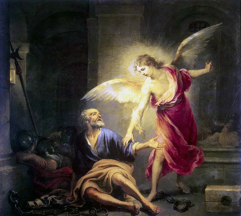 Murillo, Bartolome Esteban. When the apostle Peter from prison. Hermitage ~ part 08
