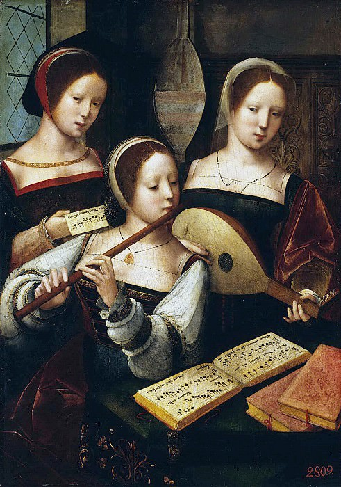 Master of female half-figures. Musicians. Hermitage ~ part 08