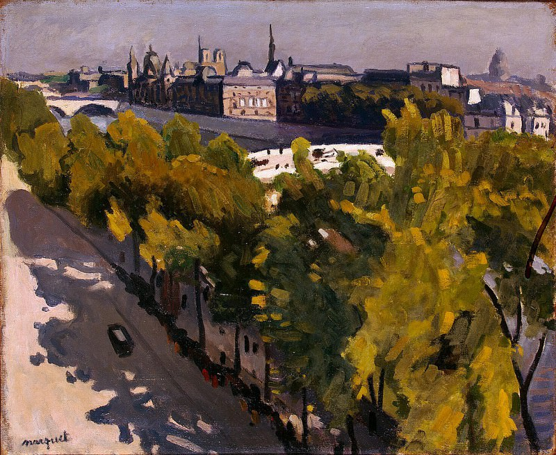 Marquet, Albert. Embankment of the Louvre and the Pont Neuf. Hermitage ~ part 08