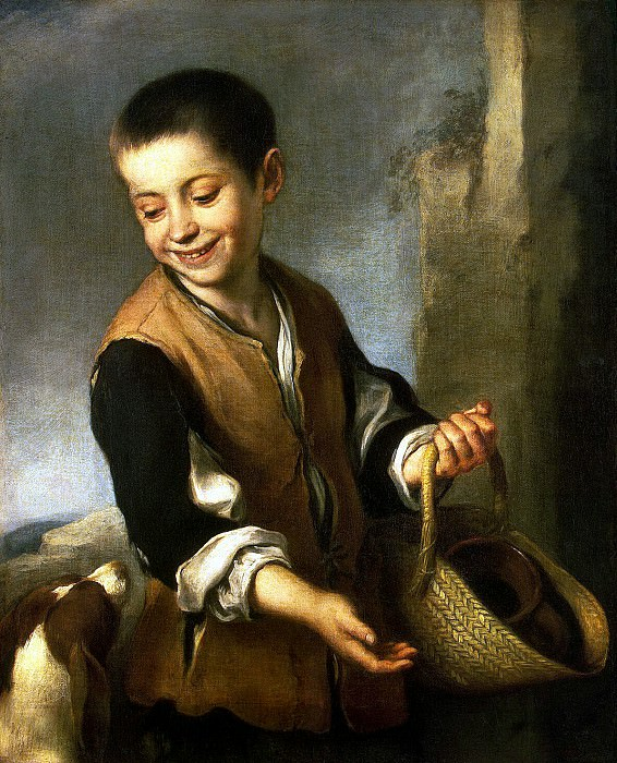 Murillo, Bartolome Esteban. Boy with dog. Hermitage ~ part 08