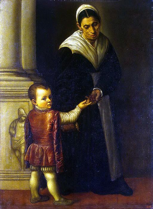 Moretto da Brescia. Portrait of a boy with a babysitter. Hermitage ~ part 08