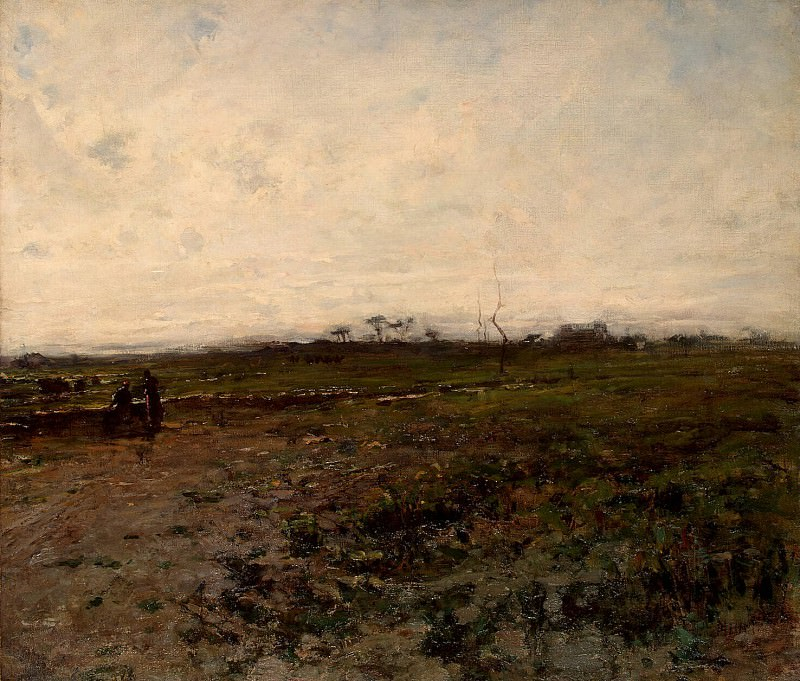 Millet, Jean-Francois. Landscape with two peasant. Hermitage ~ part 08
