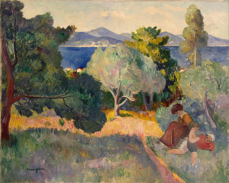 Mangen, Henry Charles. Path in Saint-Tropez. Hermitage ~ part 08