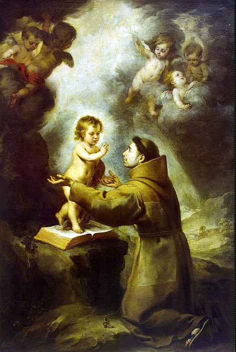 Murillo, Bartolome Esteban. Vision of St. Anthony of Padua. Hermitage ~ part 08