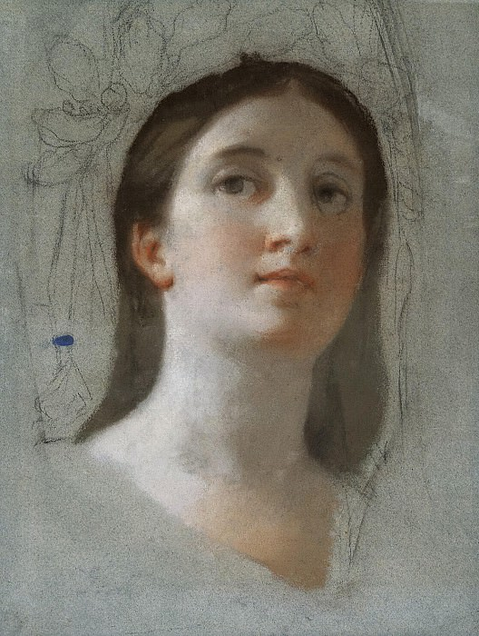 Mengs, Anton Raphael. Study of female head. Hermitage ~ part 08
