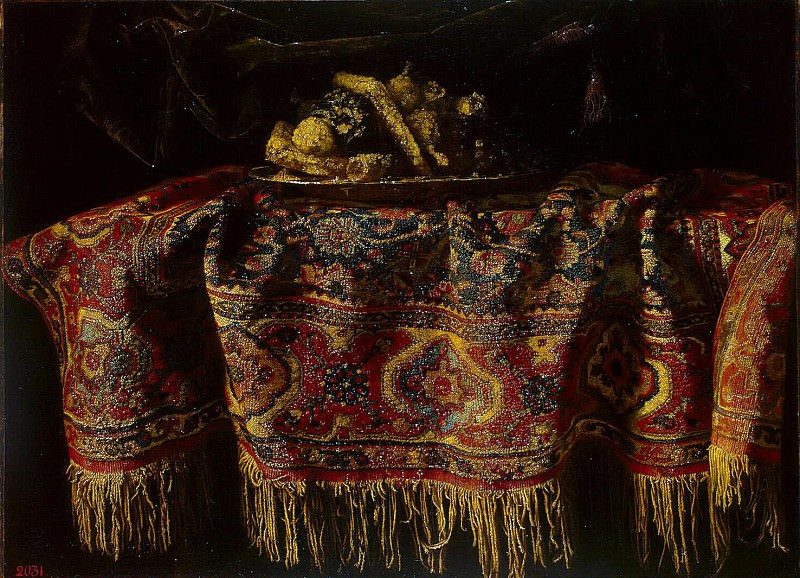 Maltese, Francesco. Still life with oriental carpet. Hermitage ~ part 08