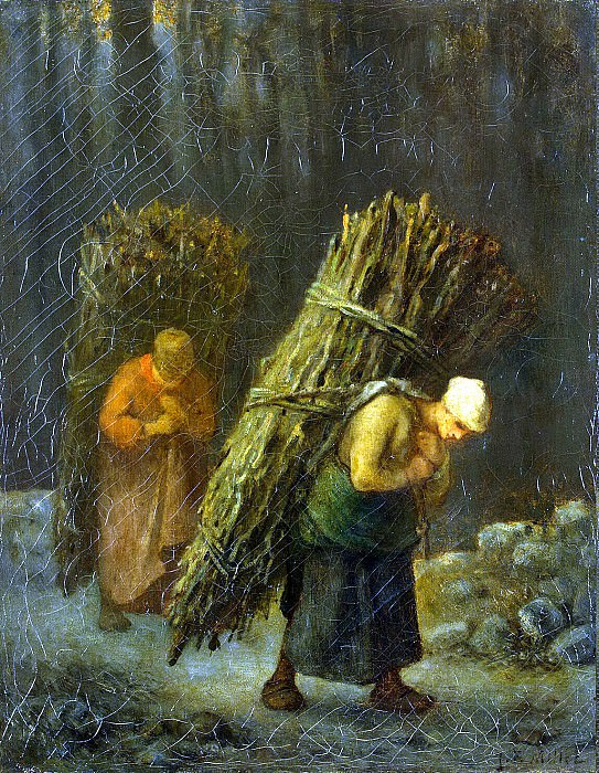 Millet, Jean-Francois. Peasant with brushwood. Hermitage ~ part 08